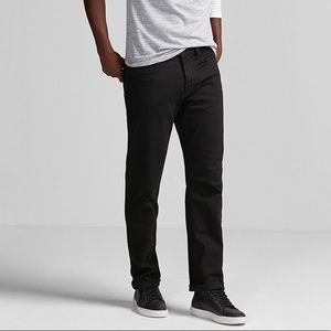 Hudson men's black straight leg jeans